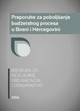 Preporuke za poboljšanje budžetskog procesa u Bosni i Hercegovini