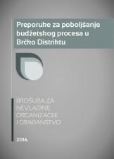 Preporuke za poboljšanje budžetskog procesa u Brčko Distriktu
