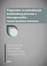 Preporuke za poboljšanje budžetskog procesa u Hercegovačko-neretvanskom kantonu