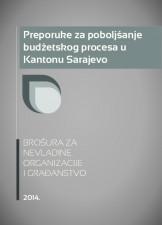 Preporuke za poboljšanje budžetskog procesa u Kantonu Sarajevo