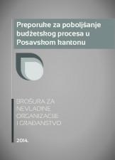 Preporuke za poboljšanje budžetskog procesa u Posavskom kantonu