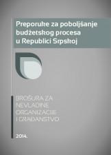 Preporuke za poboljšanje budžetskog procesa u Republici Srpskoj