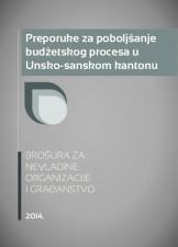Preporuke za poboljšanje budžetskog procesa u Unsko-sanskom kantonu