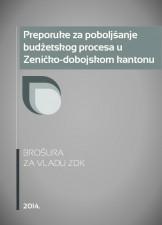 Preporuke za poboljšanje budžetskog procesa u Zeničko-dobojskom kantonu