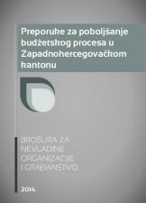 Preporuke za poboljšanje budžetskog procesa u Zapadnohercegovačkom kantonu